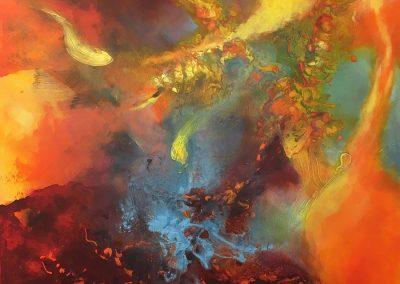 Energien, Acryl Mischtechnik auf Leinwand, 100x100 cm