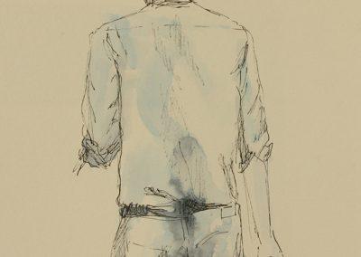 Just me, Mischtechnik auf Papier, 21x14,8 cm