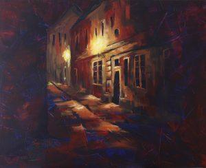 Mein Prag, Acryl auf Leinwand, 100x80 cm