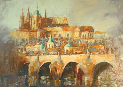 Prag Hradschin, Accryl auf Leinwand, 120x80 cm