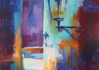 Prag Laternengasse, Acryl auf Leinwand, 120x100 cm