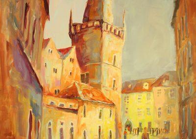 Prag Promenade, Acryl auf Leinwand, 120x100 cm