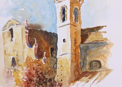 Taormina, Aquarell auf Papier, 51x35,5 cm