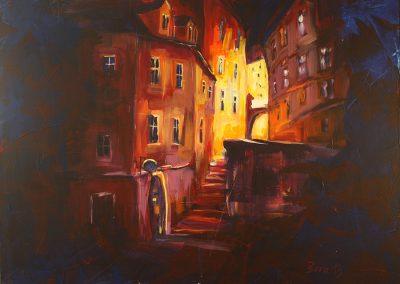Wien Rabensteig, Acryl auf Leinwand, 100x80 cm