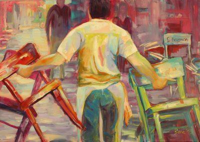 Wien Working, Acryl auf Leinwand, 120x80 cm